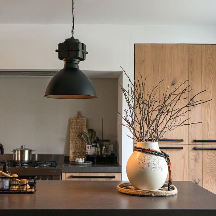 Industrial-hanging-lamp-small-matt-black---Sicko
