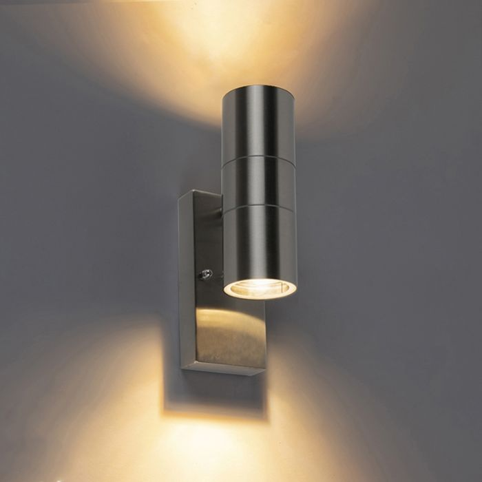 Outdoor-Wall-Lamp-with-Twilight-Switch-Steel-IP44---Duo