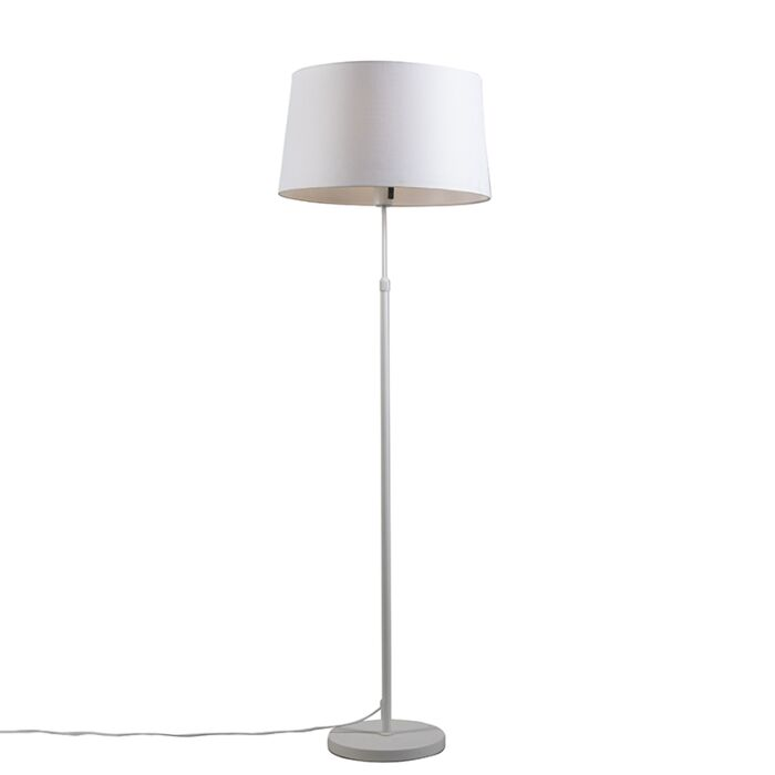 Floor-lamp-white-with-shade-white-adjustable-45-cm---Parte
