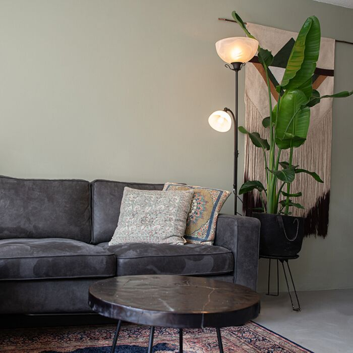 Classic-floor-lamp-brown-with-reading-lamp---Dallas