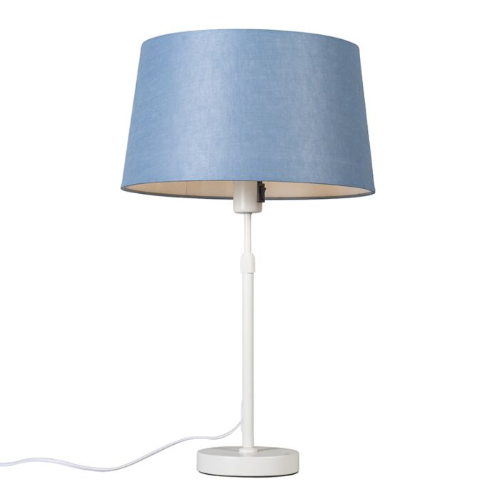 Table-lamp-white-with-shade-blue-35-cm-adjustable---Parte