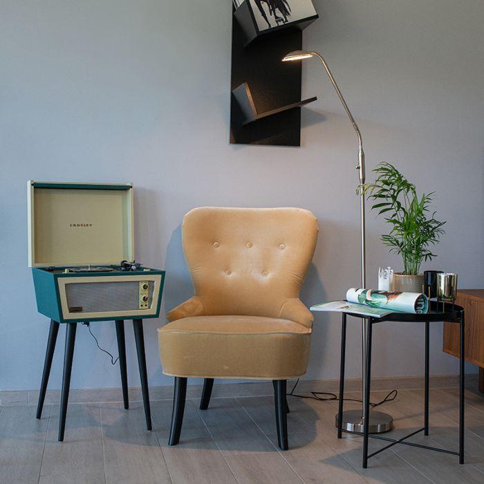 Modern-floor-lamp-steel-incl.-LED---Eva-1