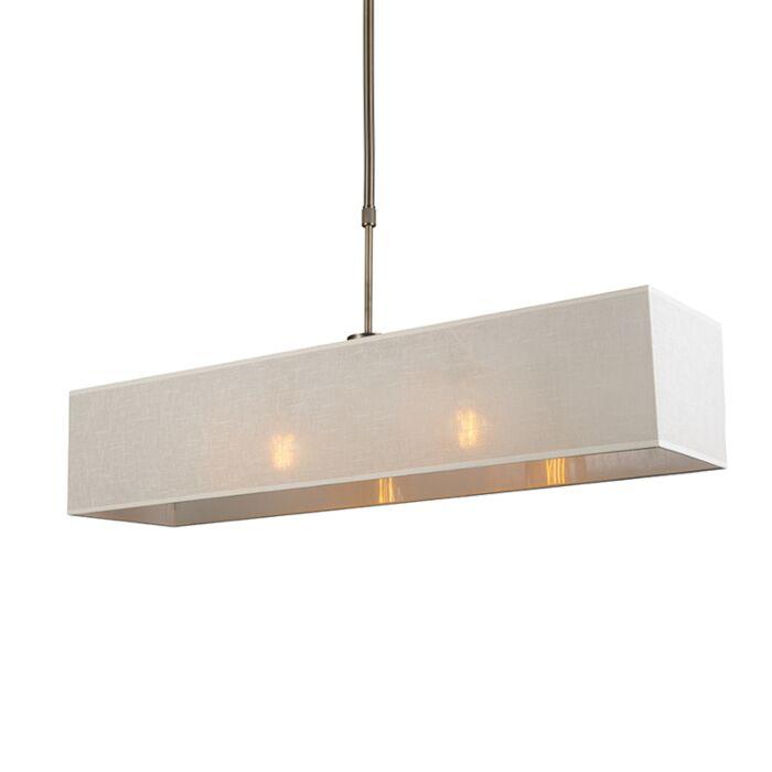 Pendant-Lamp-Mix-2-Bronze-with-Rectangle-Cream-Shade