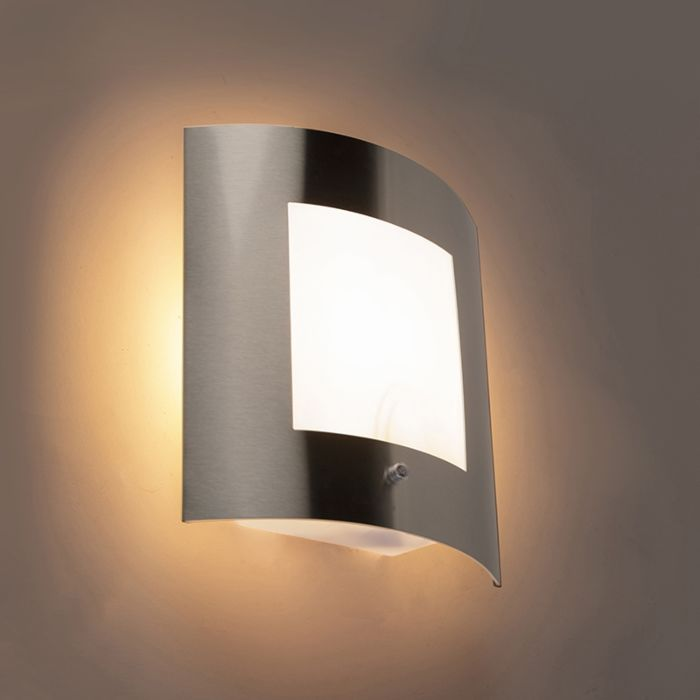 Modern-Wall-Lamp-Steel-IP44-with-Twilight-Switch---Emmerald-1