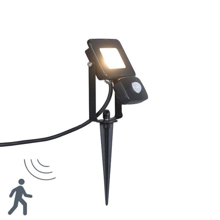 Ground-Flood-Spotlight-Radius-1-PIR-10W-LED-Black