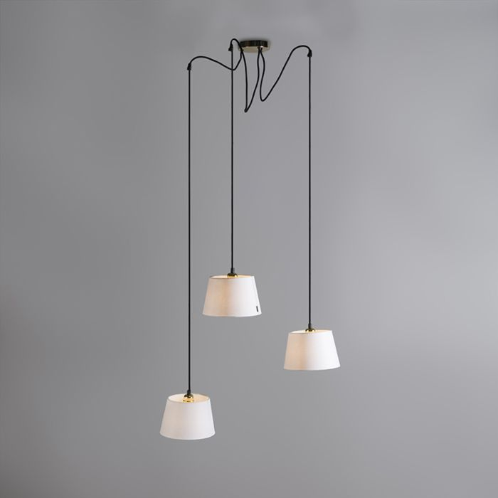 Pendant-Lamp-Cava-3-Gold-with-White-Shades