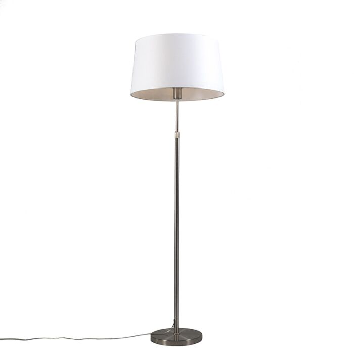 Floor-Lamp-Steel-with-45cm-White-Shade---Parte
