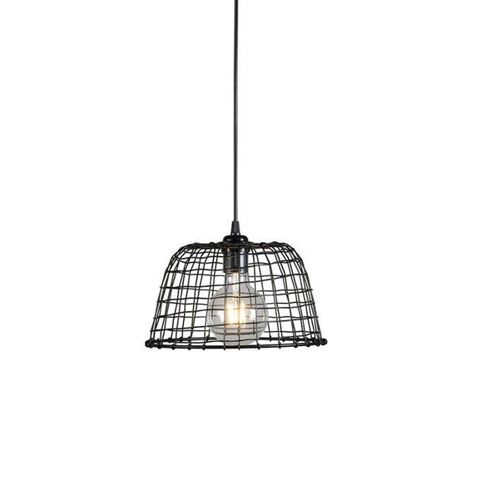 Pendant-Lamp-Basket-24-Black