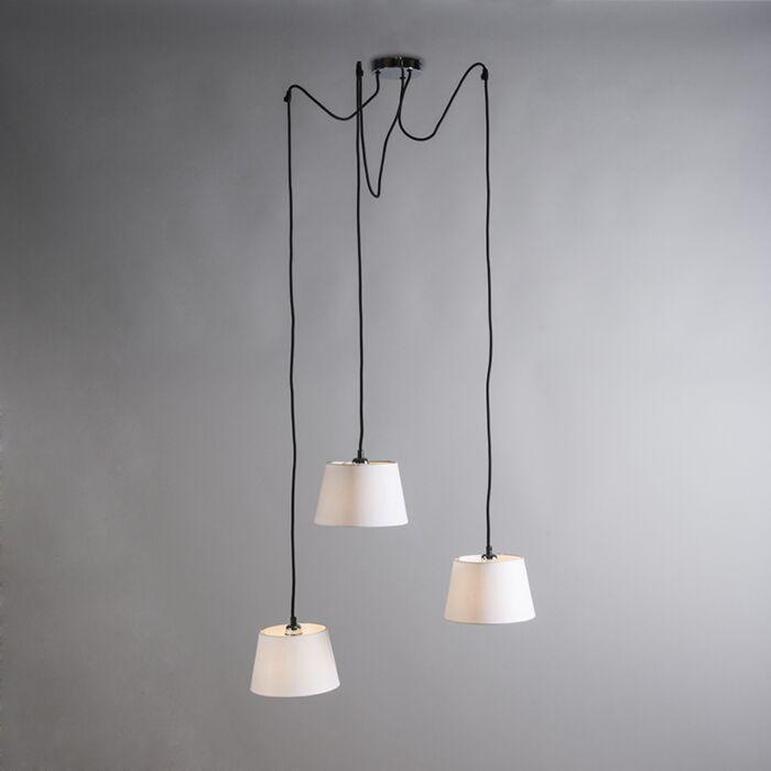 Pendant-Lamp-Cava-3-Chrome-with-White-Shades