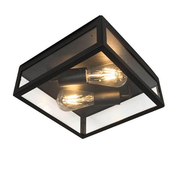 Industrial-Square-Ceiling-Lamp-2-Black-IP23---Rotterdam