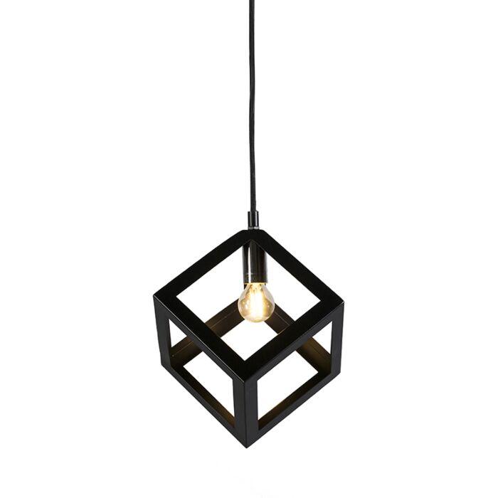 Pendant-Lamp-Cage-Black