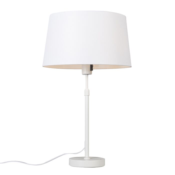 Table-lamp-white-with-shade-white-35-cm-adjustable---Parte