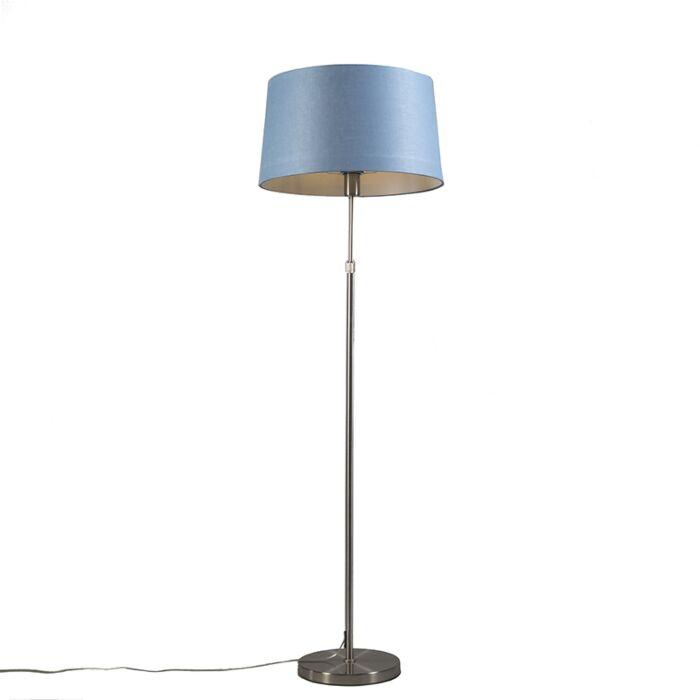 Floor-lamp-steel-with-shade-blue-45-cm-adjustable---Parte