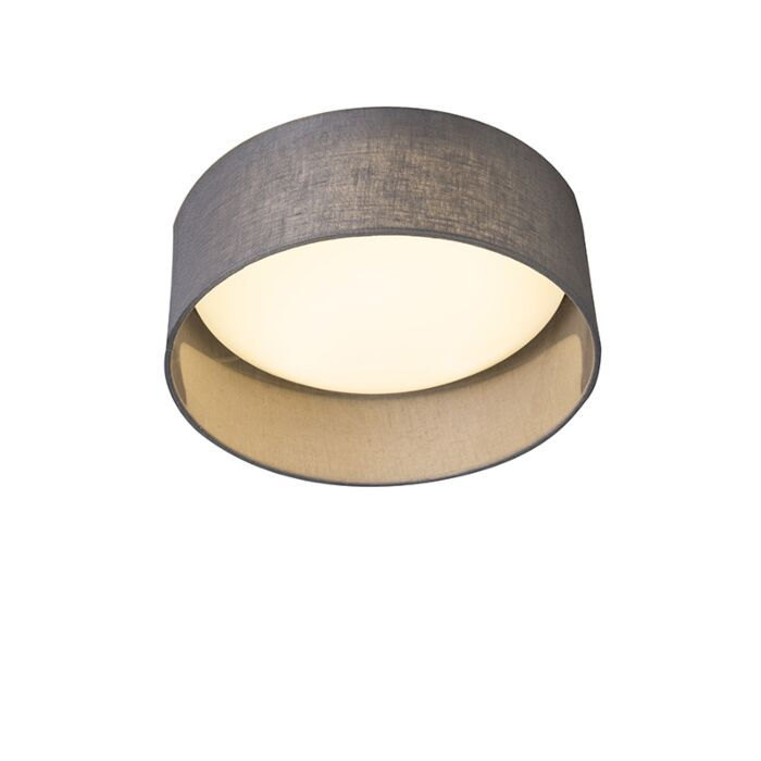 Ceiling-Lamp-Grey-28cm-incl.-LED---Drum-Combi