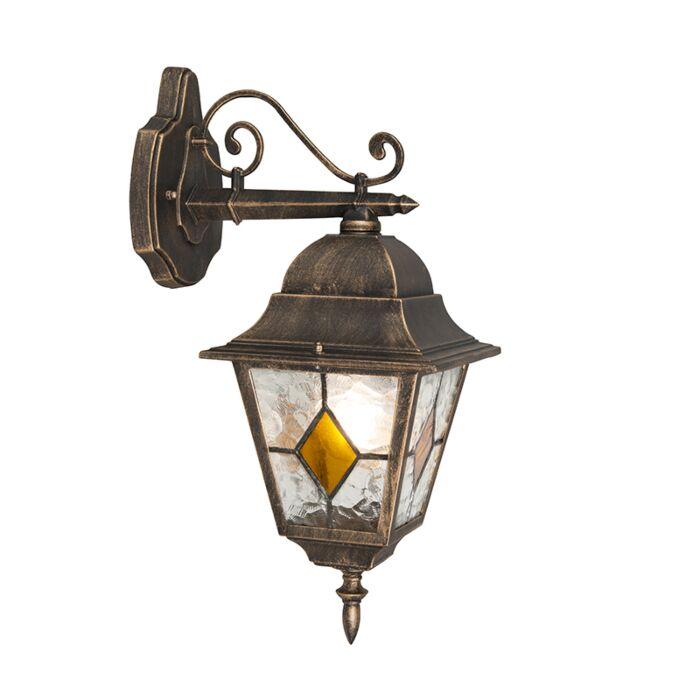 Vintage-outdoor-wall-lantern-bronze---Antigua