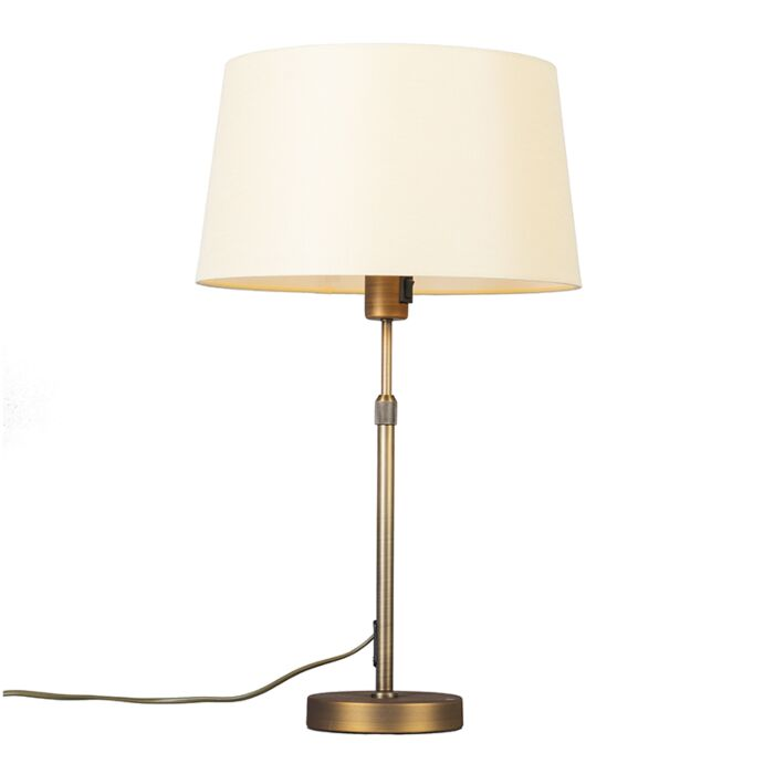 Table-lamp-bronze-with-shade-yellow-35-cm-adjustable---Parte