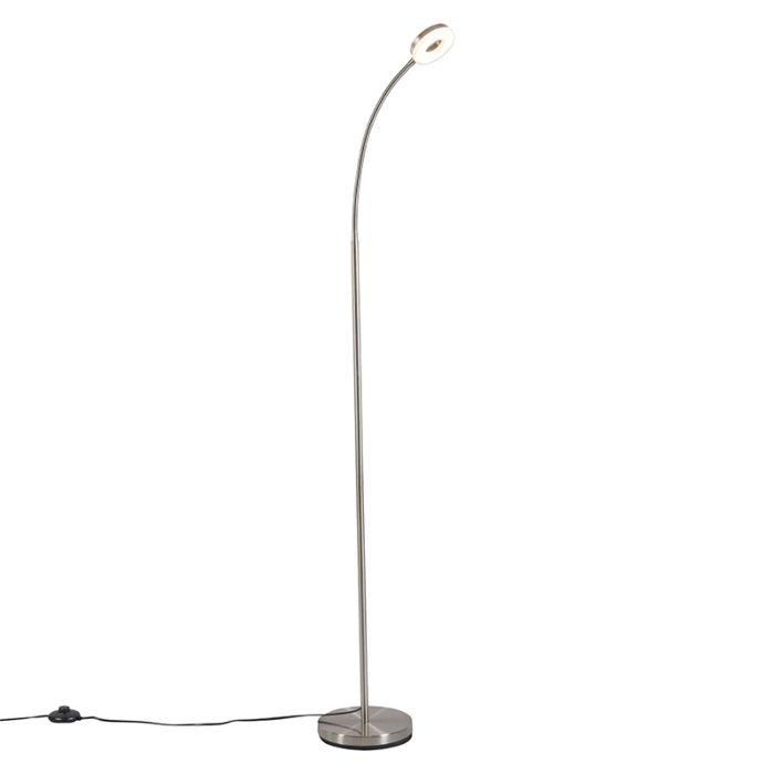 Modern-Floor-Lamp-Steel-with-Flexible-Arm-incl.-LED---Crach