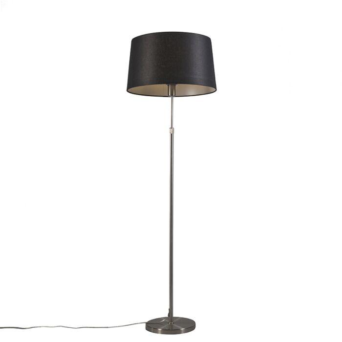 Floor-Lamp-Steel-with-45cm-Black-Shade---Parte
