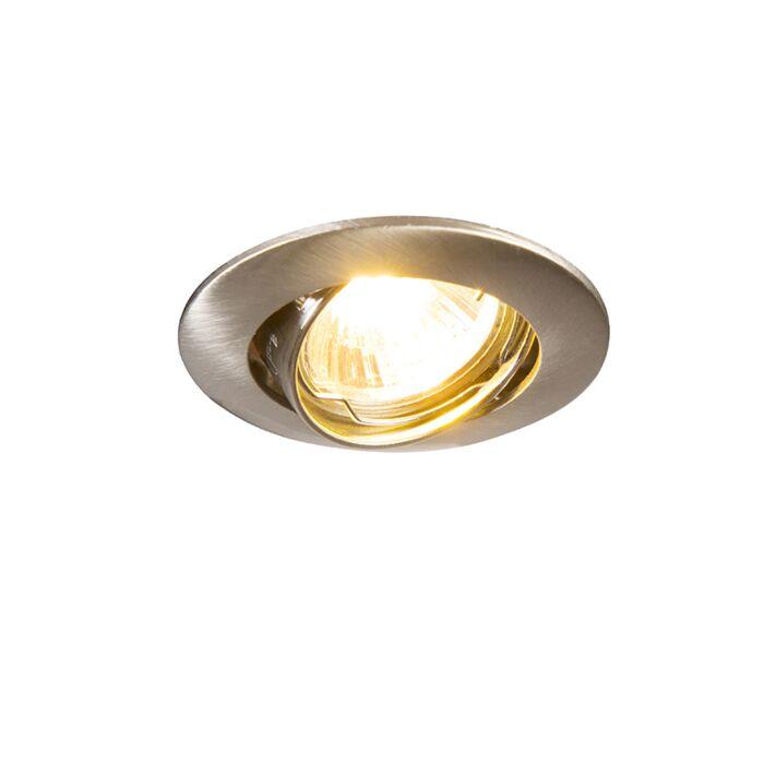 Round-Recessed-Spotlight-Steel---Edu-Mini