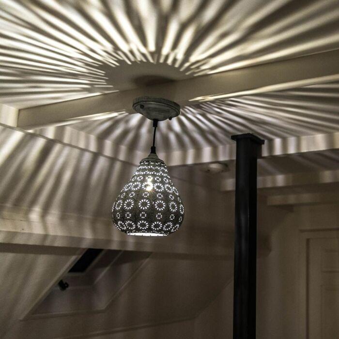 Oriental-Pendant-Lamp-Grey---Billa