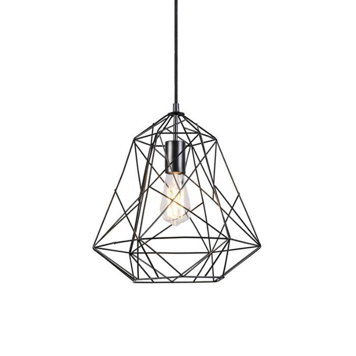Industrial-hanging-lamp-black---Framework-Basic