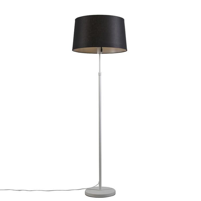 Floor-lamp-white-with-shade-black-adjustable-45-cm---Parte