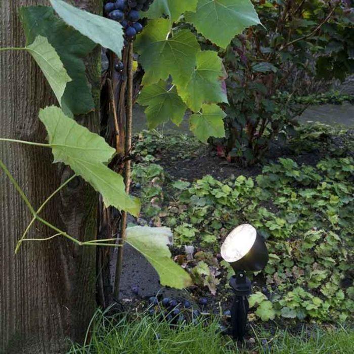 Puncture-lamp-black-tiltable-incl.-LED-IP65---Ensign