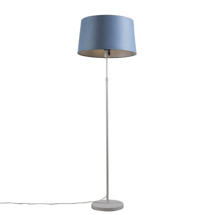 Floor-lamp-white-with-shade-blue-45-cm-adjustable---Parte