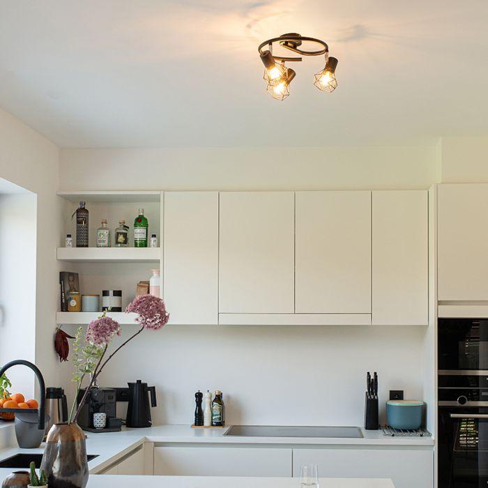 Art-Deco-Ceiling-Spotlight-Black---Mosh-3