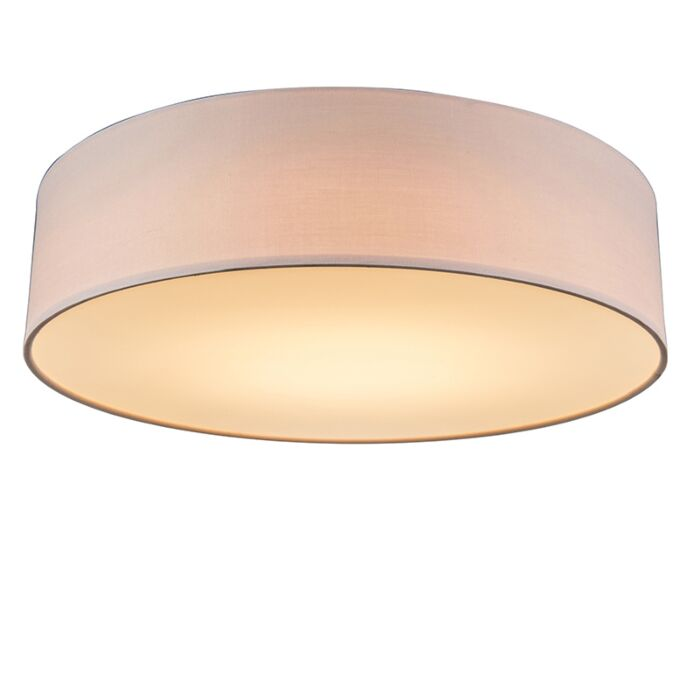 Ceiling-lamp-pink-40-cm-incl.-LED---Drum-LED