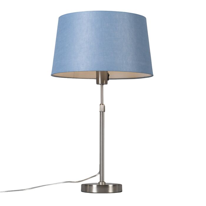Table-lamp-steel-with-shade-blue-35-cm-adjustable---Parte