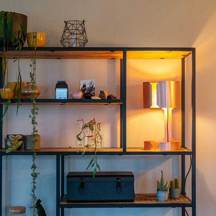 Design-table-lamp-matt-copper---Waltz
