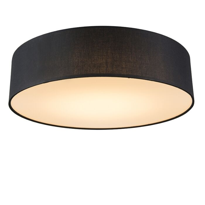 Ceiling-lamp-black-40-cm-incl.-LED---Drum-LED