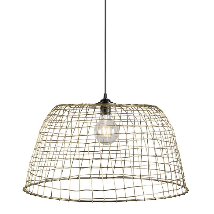 Pendant-Lamp-Basket-60-Gold
