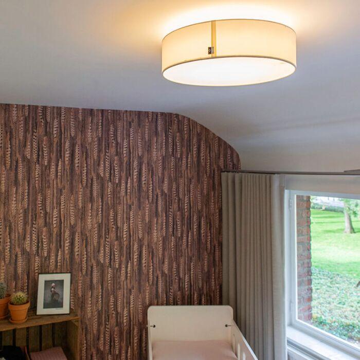 Ceiling-lamp-white-40-cm-incl.-LED---Drum-LED