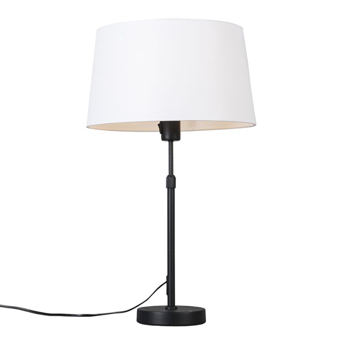 Table-lamp-black-with-white-shade-35-cm-adjustable---Parte