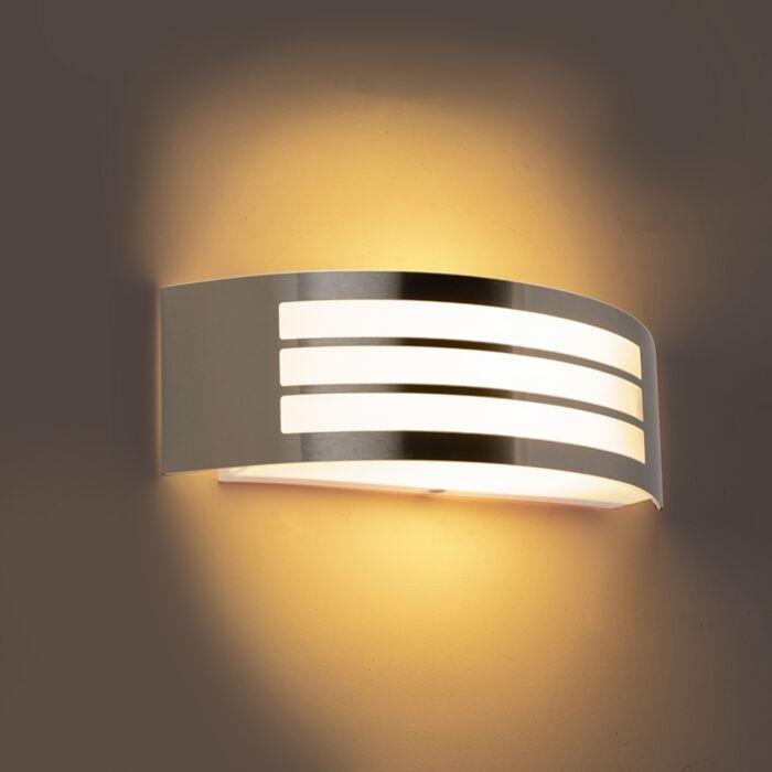 Modern-wall-lamp-steel-stainless-steel-IP44---Sapphire-Deluxe