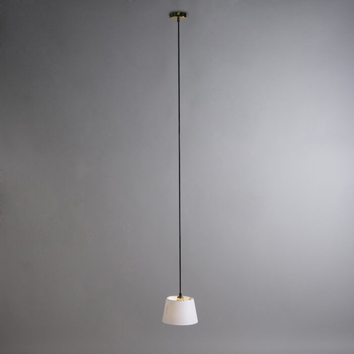 Pendant-Lamp-Cava-1-Gold-with-White-Shade