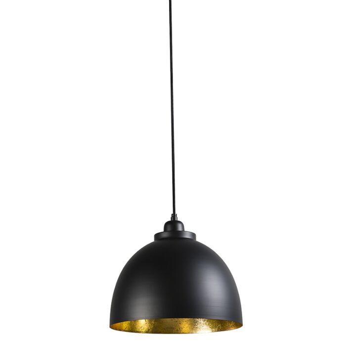 Pendant-Lamp-Hoodi-Small-Black-with-Gold