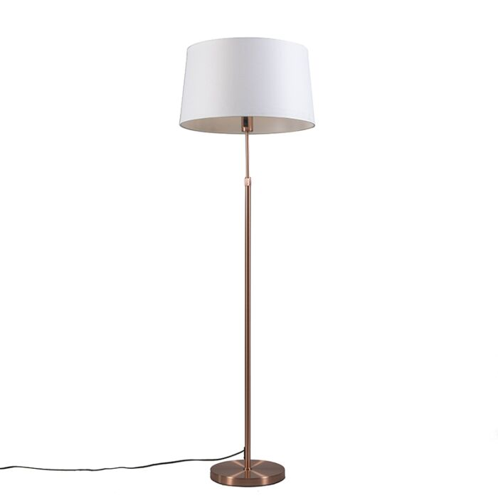 Copper-floor-lamp-with-shade-white-45-cm-adjustable---Parte