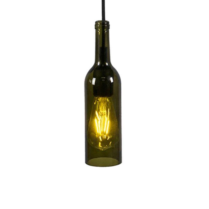 Pendant-Lamp-Bottle-Dark-Green