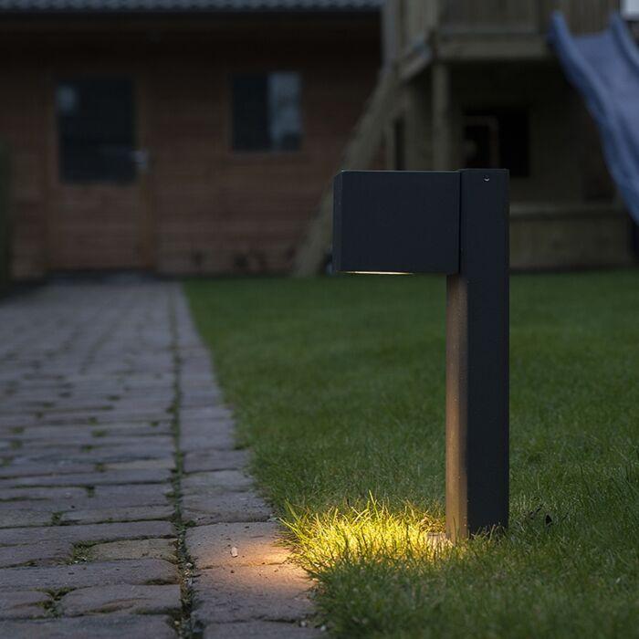 Industrial-standing-outdoor-lamp-anthracite-30-cm-IP44---Baleno