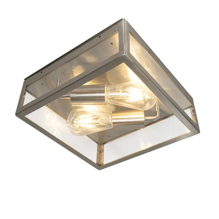 Modern-Square-Ceiling-Lamp-2-Steel-IP23---Rotterdam