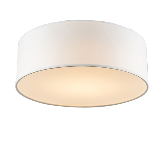 Ceiling-lamp-white-30-cm-incl.-LED---Drum-LED