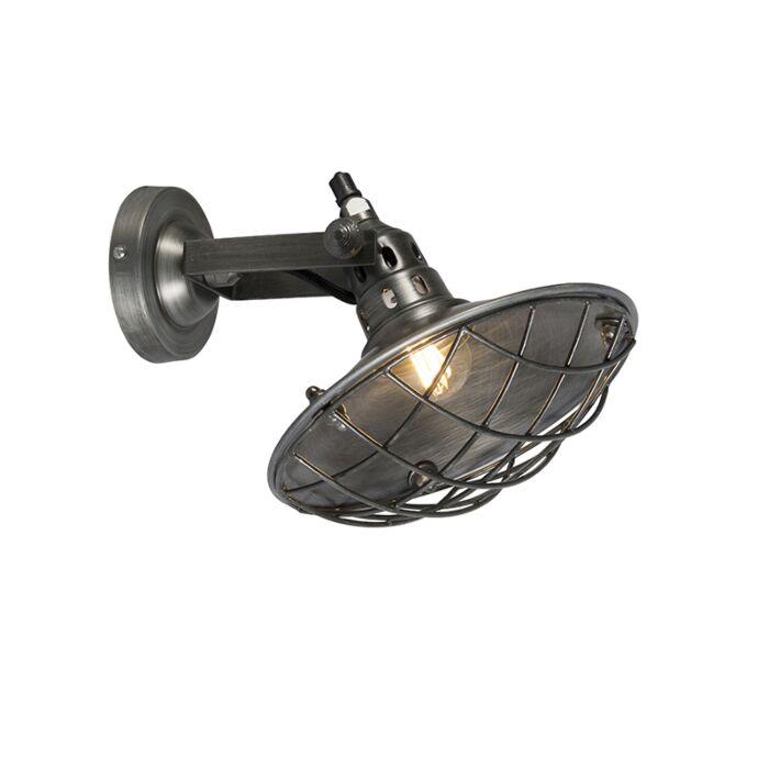 Rustic-wall-lamp-steel-tiltable---Stradt