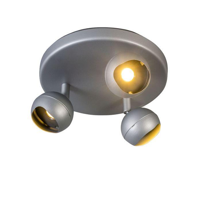 Spotlight-Globe-3-LED-Round-Grey-3000K