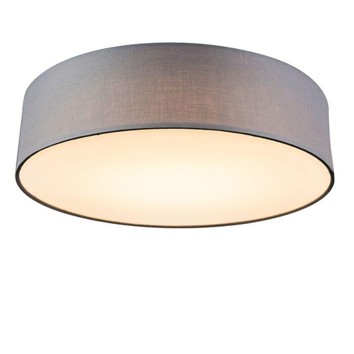 Ceiling-lamp-gray-40-cm-incl.-LED---Drum-LED