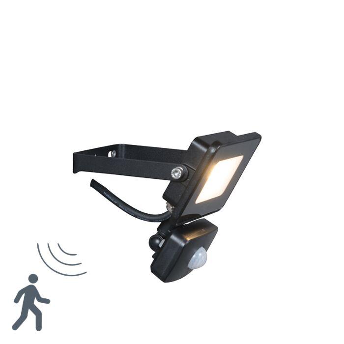 LED-spotlight-black-incl.-LED-with-motion-detector---Radius-1