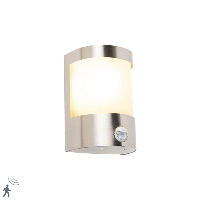 Modern-outdoor-wall-lamp-stainless-steel-motion-sensor-IP44---Mira