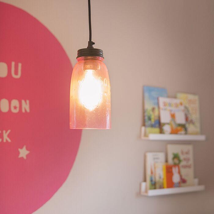 Pendant-Lamp-Masons-Pastel-Pink